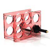 Supporto di bottiglia acrilico del vino della visualizzazione del vino della cremagliera del vino
