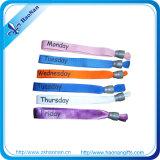 Bracelets bon marché de Silkscreen de polyester d'événements des prix de mode une fois utilisée