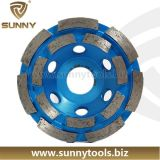 돌에게 구체적인 갈기를 위한 강철 기본적인 터보 다이아몬드 컵 바퀴