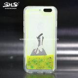 Caixa líquida do telefone móvel do Quicksand TPU de Shs para Samsung S7