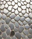 Плитка мозаики нержавеющей стали Irrgular серебряная для плитки пола (FYMG086)