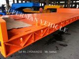 De zware Semi Aanhangwagen Lowbed/Lowplatform van het Luchtkussen Lowdeck/van de Vrachtwagen Hydraulische met As 3