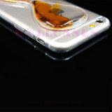 Cas liquide en gros de téléphone mobile d'entonnoir de pétrole pour l'iPhone 5/6/6plus