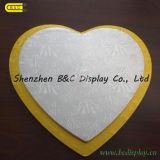 MDF com os cilindros do bolo da forma do coração do papel da folha, placas do bolo com GV (B&C-K072)