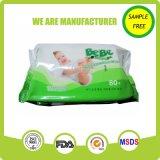 경쟁가격 무료 샘플 자연적인 아기 사용 젖은 닦음