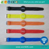 Silikonwasserdichter RFID Wristband des Qr Code-Ntag213