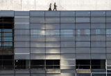 Mur rideau glaçant en aluminium (mur rideau en verre transformé en unités)