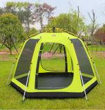 De openlucht Dubbele Grote Tent van de Laag, het Kamperen van Full Auto van Persoon 3-4 Tent, de Telescopische Tenten van de Staaf van het Aluminium