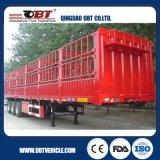 Vervoer 3 van de Levende Voorraad van het Merk van Obt de Semi Aanhangwagen van de Omheining van de As