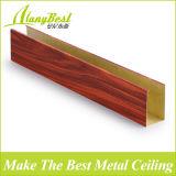 Teto de alumínio do estiramento da cor de madeira de Foshan para a decoração da alameda