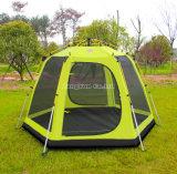 Напольный шатер двойного слоя большой, персоны 3-4 шатер польностью автоматический сь, телескопичные алюминиевые шатры штанги