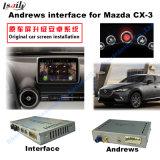 Auto-androide Navigations-Schnittstelle für Mazda Cx-3, Spiel Stor Aufsteigen-Noten-Navigation, WiFi, BT, Mirrorlink, HD 1080P, Google Karte