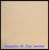 Semi couro de couro do plutônio Microfiber para sapatas e saco de mão