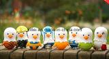Brinquedos plásticos de borracha coloridos pequenos da novidade da cápsula do ovo do pássaro En71