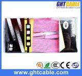 ピンクの高品質平らなHDMIのケーブル(F016)
