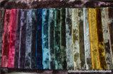 Polyester-italienisches Frost-Blumen-Velour-Polsterung-Vorhang-Gewebe heraus schwärzen