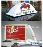 Muestra de la tapa de la casilla del LED/muestra superior del taxi de la publicidad al aire libre