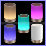 Altoparlante caldo impressionabile senza fili di RGB Bluetooth dell'indicatore luminoso di umore LED di Bluetooth di tocco astuto rotondo ad alta fedeltà