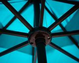 Guarda-chuva do pátio 9-Feet com inclinação da tecla e manivela - turquesa