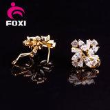 Женщины конструкций серег тумака уха золота оптовой продажи 18k ювелирных изделий способа