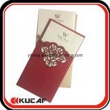 Карточка приглашения отрезока лазера карточки венчания изготовленный на заказ печатание роскошная