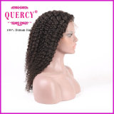 Естественный смотря человеческих волос парика фронта шнурка волос девственницы скручиваемости Afro парик 100% шнурка Kinky бразильских полный с волосами младенца