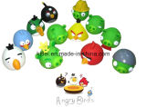 Petits jouets en plastique en caoutchouc colorés de nouveauté de capsule d'oeufs de l'oiseau En71