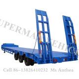 60t tri reboque do caminhão pesado da carga da plataforma do eixo Lowbed/Lowdeck/baixo Semi
