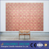 Панель ядровой изоляции волокна украшения нутряной стены офиса деревянная