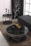 シンプルな設計の堅いガラスステンレス鋼のコーヒーテーブルの家具