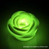 Vela de la flor del cambio LED Rose de siete colores