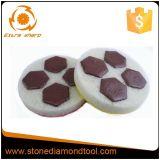 Tamponi a cuscinetti per lucidare della resina del diamante del pavimento flessibile bagnato della spugna