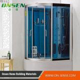閉鎖浴室のガラス蒸気のシャワー