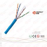 Cabo aprovado da rede da categoria 6 de UL/CE/RoHS/ISO UTP Lszh/Cm/Cmx/Cmr/CMP
