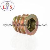 Noix hexagonale de garniture intérieure de noix de noix en alliage de zinc de meubles