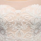Long Sleeve O-Neck Lace Wedding Dress (SL-3007)
