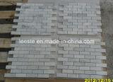 Mosaico del marmo della parete e mattonelle di mosaico bianchi di pietra naturali