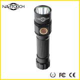 Lampe-torche de longue durée rechargeable noire de l'aventure DEL de temps (NK-1865)