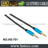 Двойной мыжской цветастый металл 3.5mm покрывая тональнозвуковой кабель