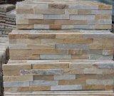 Popular Cuarzo Blanco Cultura piedra de la pila de piedra para revestimiento de paredes, decoración