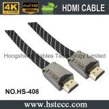 De Vlakke Kabel van de hoge snelheid HDMI met 24k de Goud Geplateerde 3D Steunen van de Schakelaar Ethernet en Arf 2160p