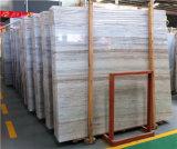 Mattonelle di marmo grige di legno per la pavimentazione e la parete