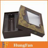 Rectángulo de empaquetado impreso del papel con la tapa y la ventana