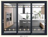 Раздвижная дверь серых панелей цвета 3 алюминиевая в столовой