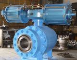 Válvula de esfera flangeada operada pneumática/elétrica