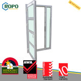 Diseño plástico de la puerta de la seguridad del frente de la casa del vidrio Tempered de UPVC