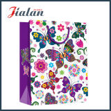 Bolso de ropa de papel al por menor impreso 4c colorido de la mariposa de la serie natural