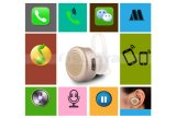 Salut-End Super Mini Wireless Hidden Invisible Bluetooth Earphone pour l'iPhone 6s Plus de Samsung S6 S7 Edge