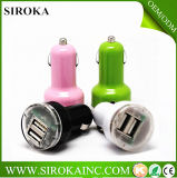 12V 2100mAh Promotional Dual of Single USB Car Charger met Logo van Printing Client voor Phone