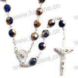 Ожерелье Rosary цветастых 8mm кристаллический шариков способа вероисповедное
